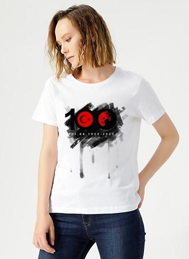 Limon Company Limon  Beyaz Kadın T-Shirt Beyaz